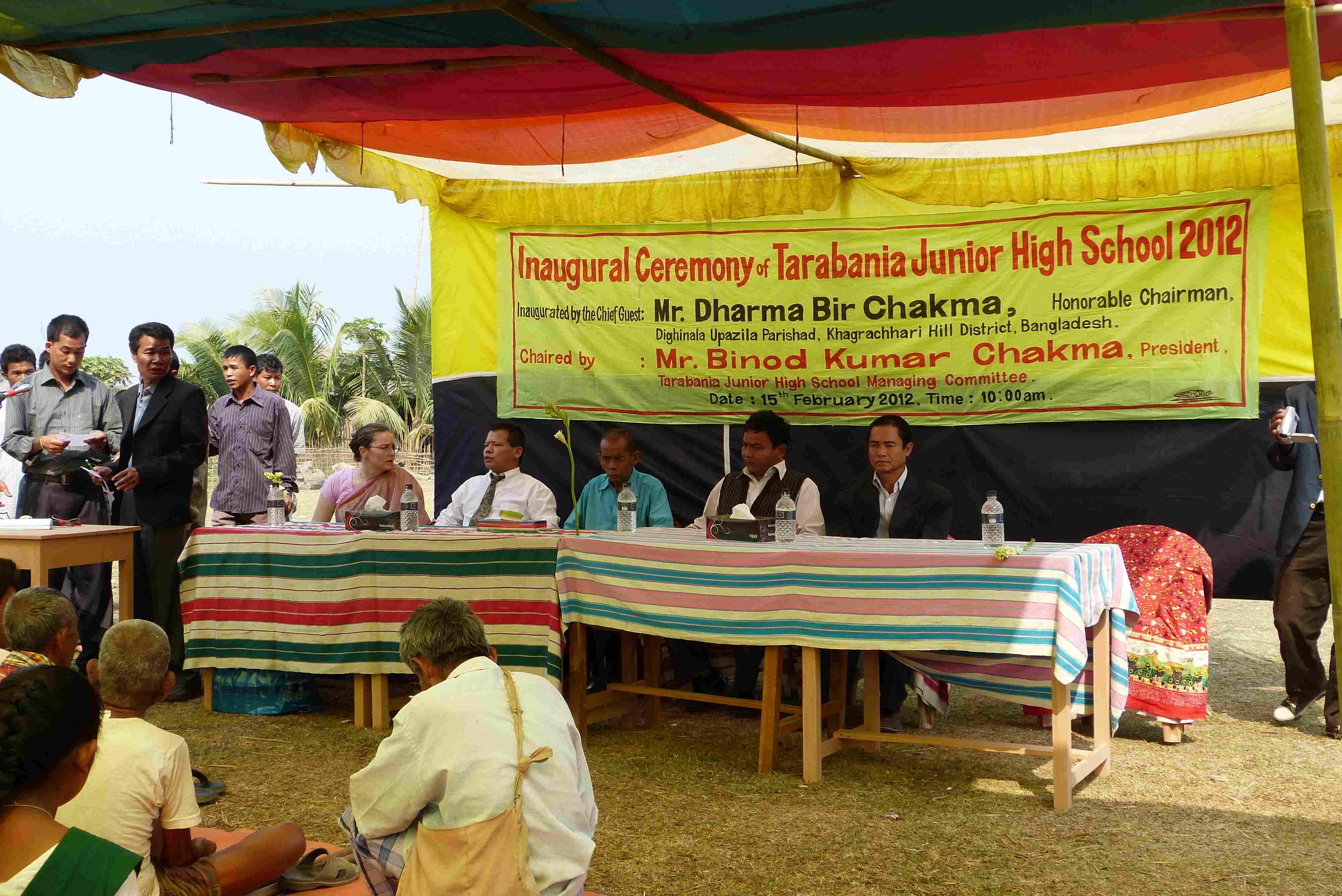 la fête inaugurale organisée par les habitants