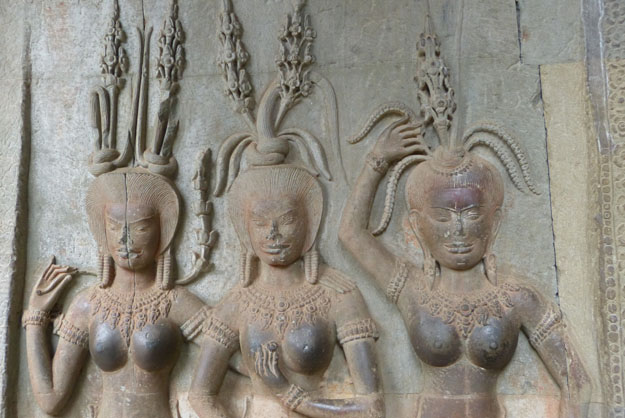 apsaras du temple d'Angkor Vat