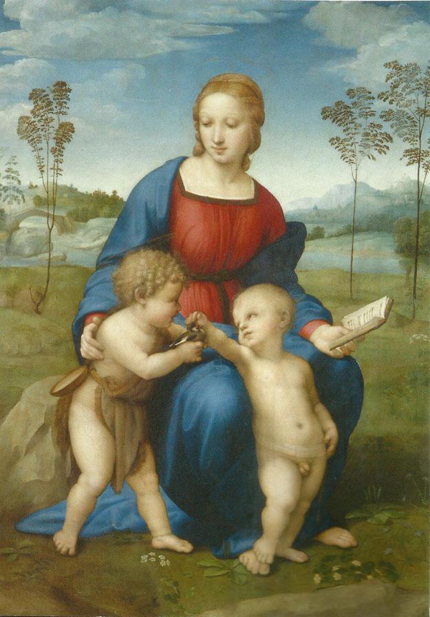 Raphael : Vierge au chardonneret