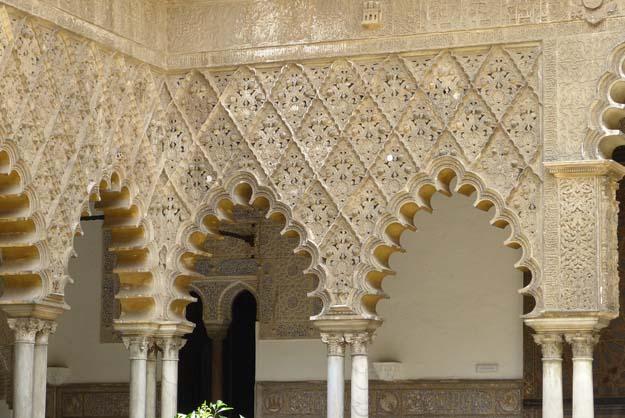 Séville : Alcazar, la cour des Demoiselles