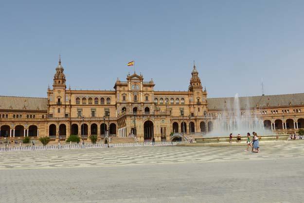 Séville : la place d'Espagne