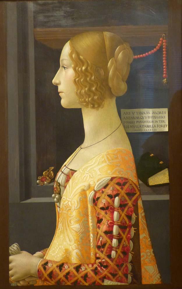 Musée Thyssen-Bornemisza : Ghirlandaio, portrait de Giovanna 1490