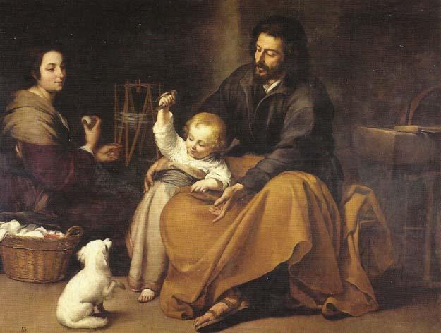 Prado : Murillo, Sagrada Familia 1650