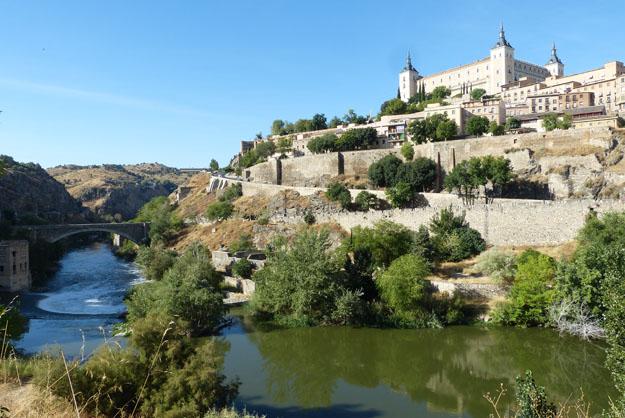 Le Tage, l'Alcazar et  et les fortifications côté est