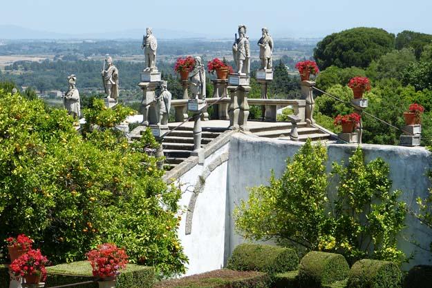 Jardin du palais épiscopal à Castelo Branco
