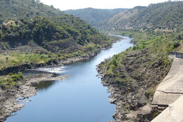 Première rencontre avec le Tage à Fratel près de la frontière espagnole