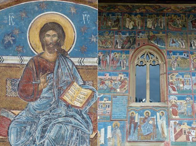 Monastère de Voronet : le Christ Pantocrator et le jugement dernier