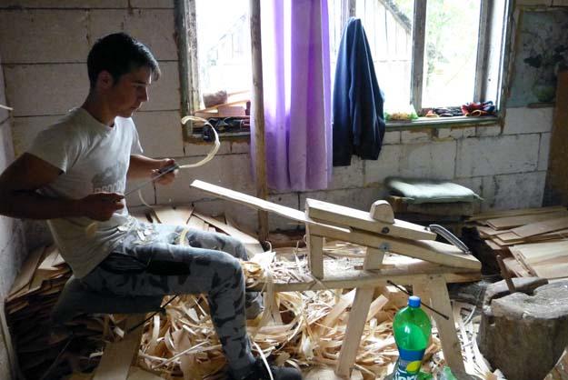 Finition des bardeaux de bois