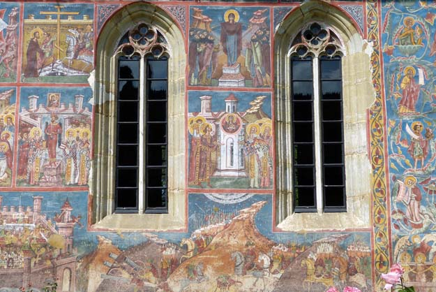 La prise de Constantinoble, célèbre fresque de Moldoviţa