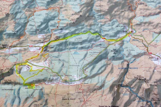 Carte des randonnées 4 et 5