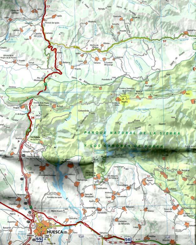 La route d'accès au village de Nocito