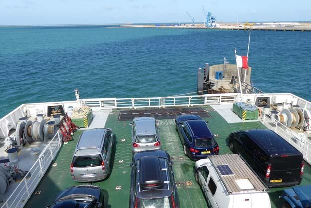 Le départ de Cherbourg