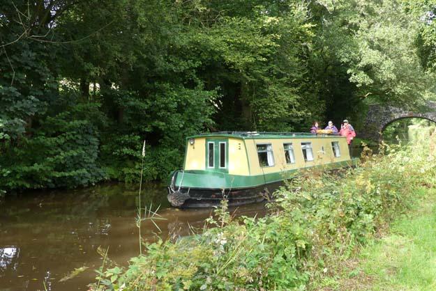 Péniche anglaise sur le canal de Brecon/Monmooth