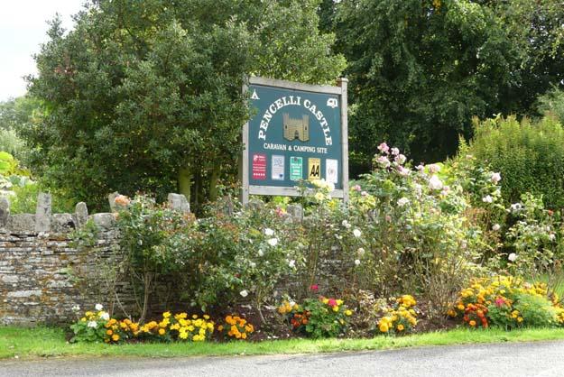 Accueil fleuri du camping de Pencelli, près de Brecon