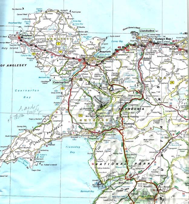 Le nord du Pays de Galles